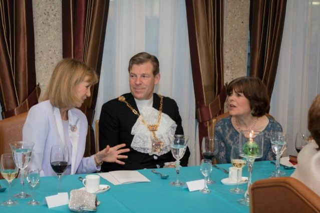 Alderman Russell and Mrs Estlin with the Upper Warden
