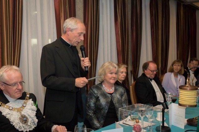 The Chaplain blesses the Nurses' Lamp